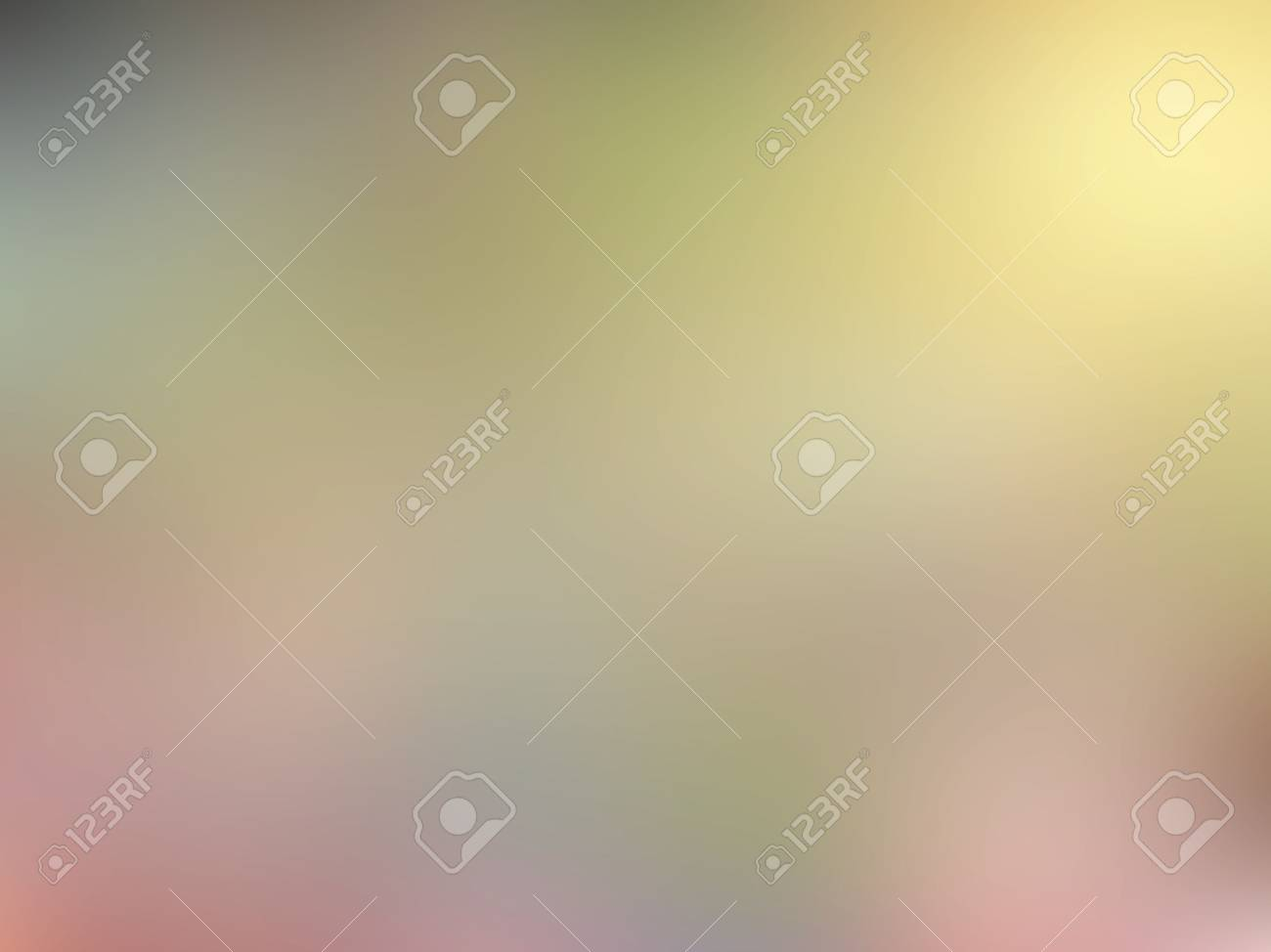Abstract Blurred Brown Pink Green And Yellow Colored Background