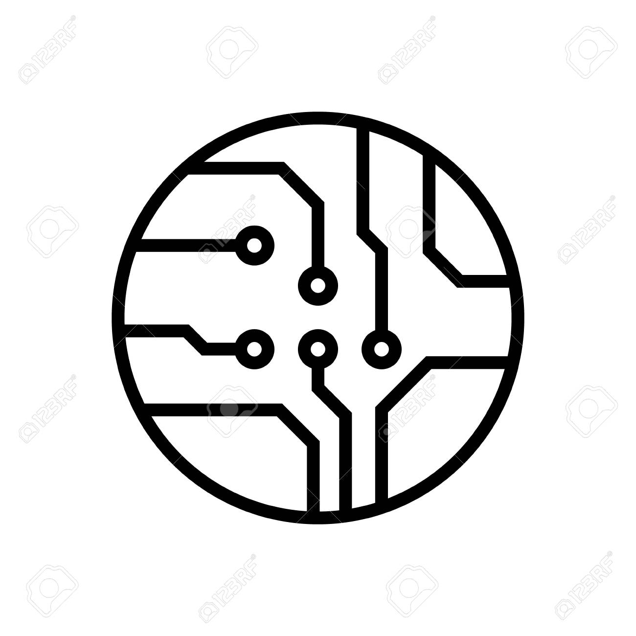 Circuit board, technology vector icon  For your web site design,