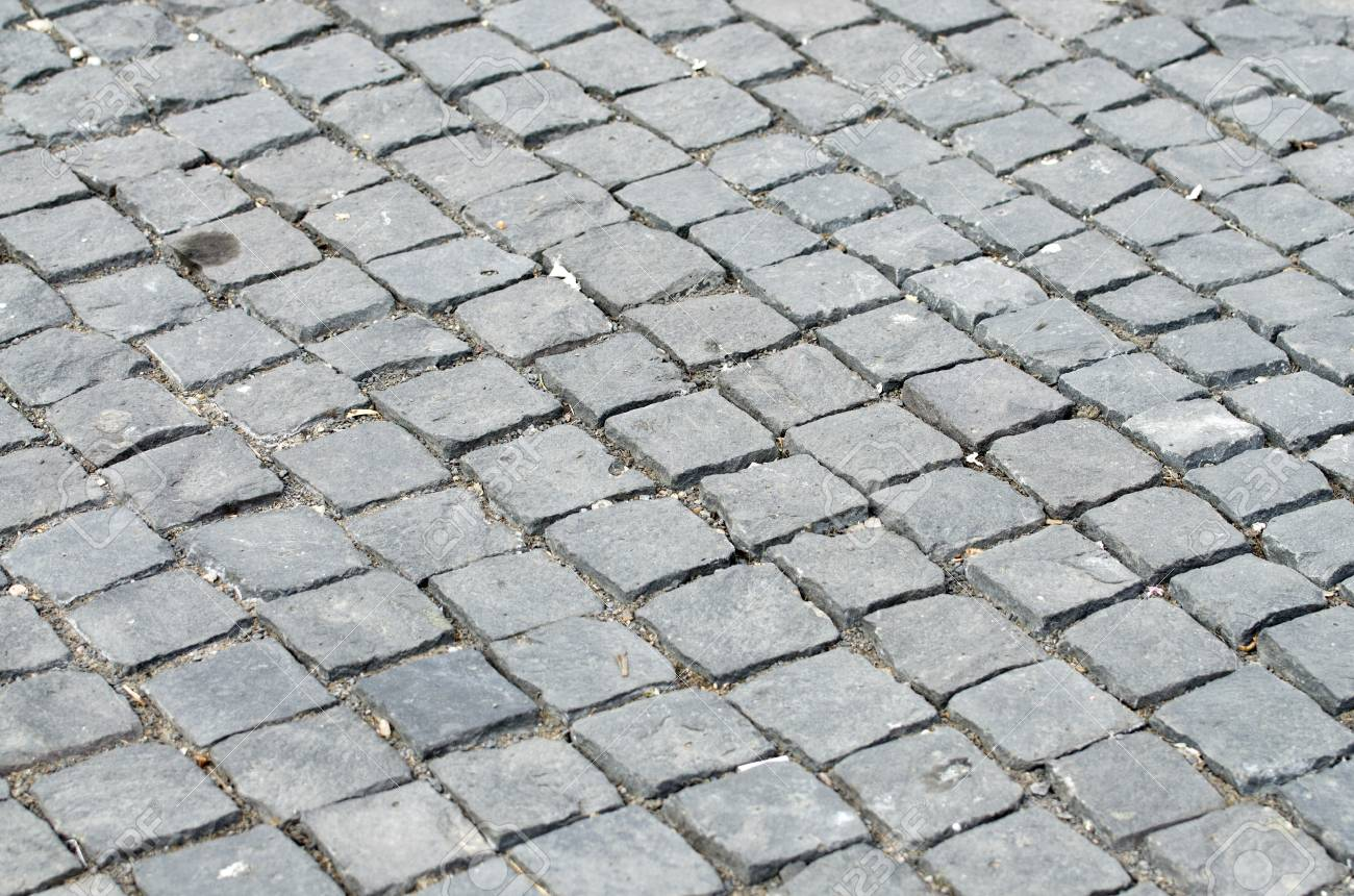 Stone road paved in Cluj-Napoca, Romania Stock Photo - 12949496