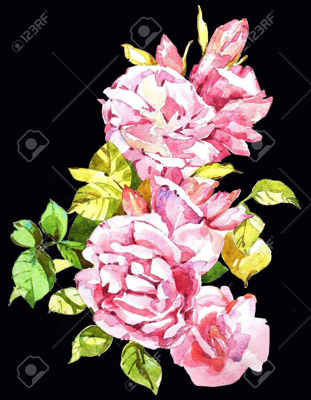Blumen Aquarell Illustration Manuelle Zusammensetzung Muttertag