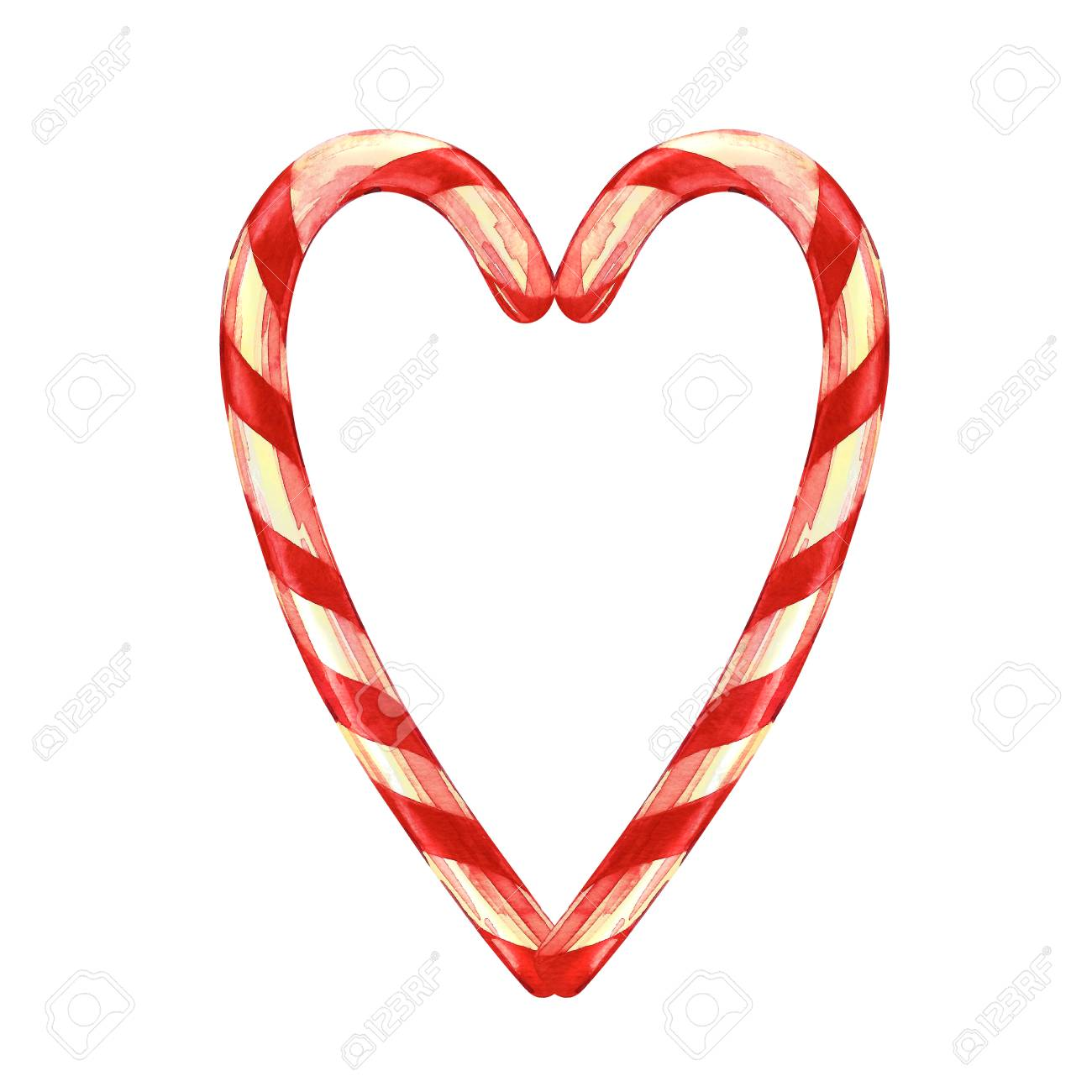 Christmas Heart Png.Stock Illustration