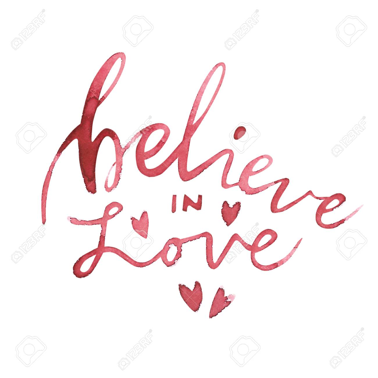 Valentines Day Text Believe In Love Romantic Quote For Design