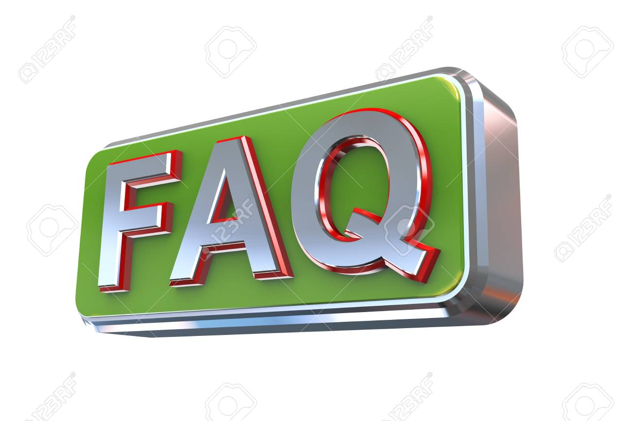 D concetto illustrazione presentazione faq domande più