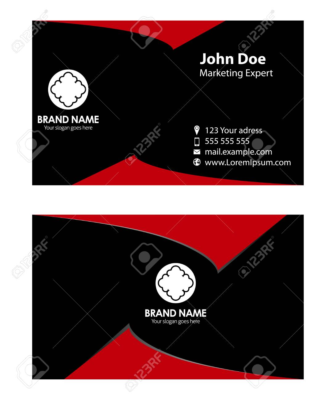 Black and red business card royalty free cliparts vectors and black and red business card stock vector 35015701 colourmoves