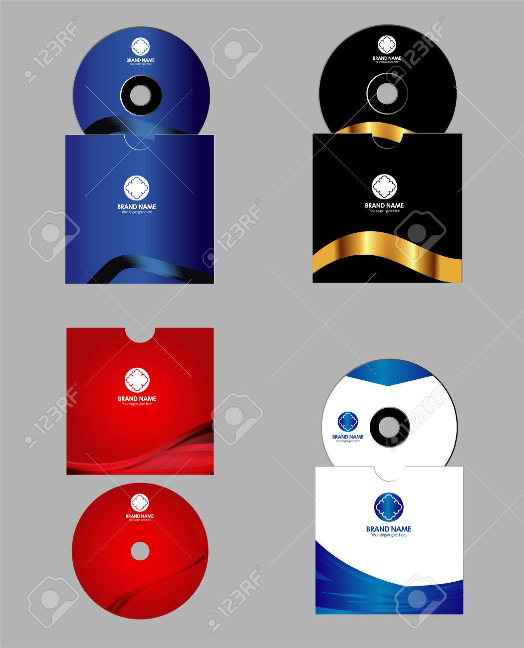 cd dvd cover design template royalty free cliparts vectors and