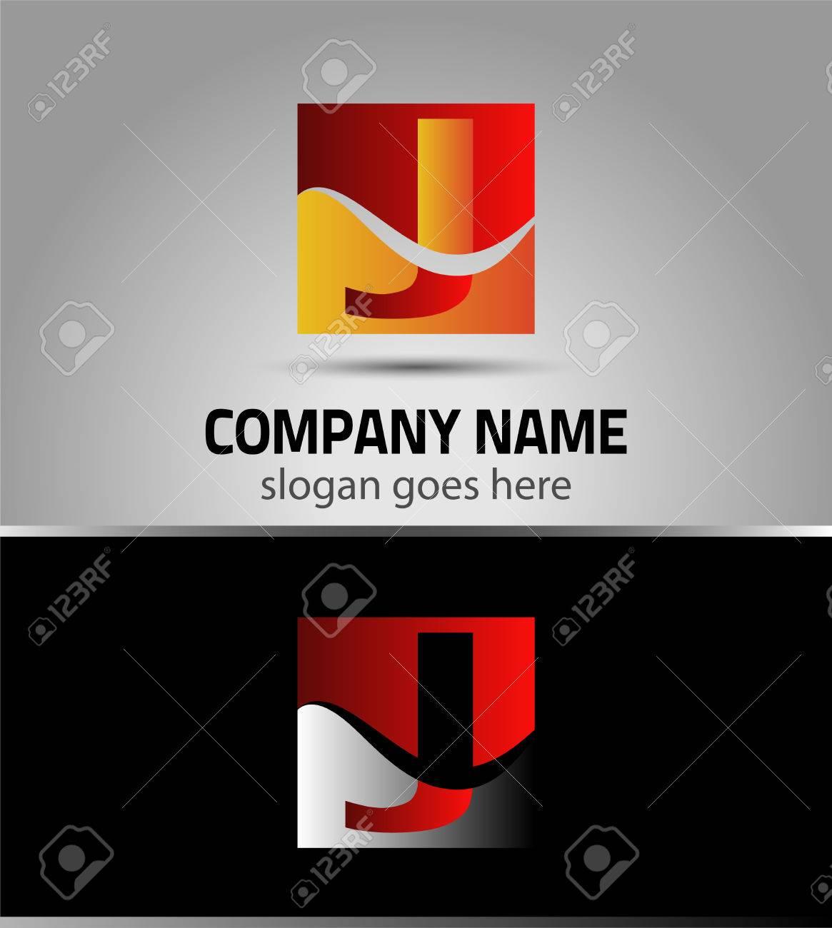letter j symbol logo icon template royalty