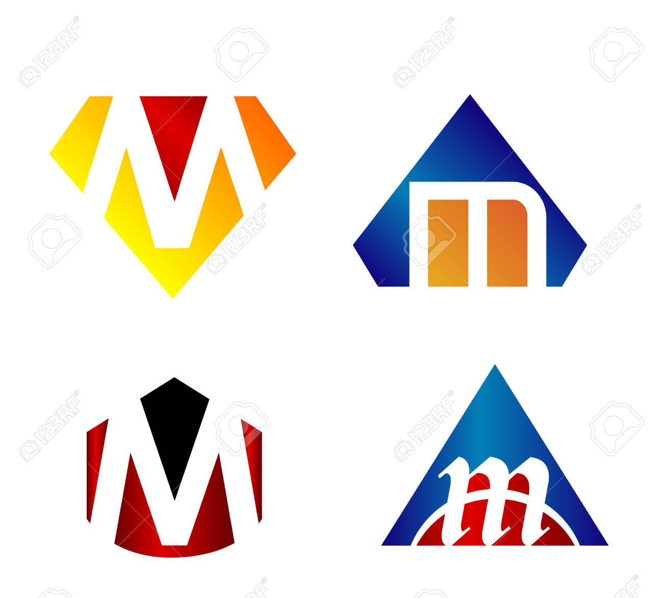 Letters M Unusual Design Graphic For Your Editable Stock Vector