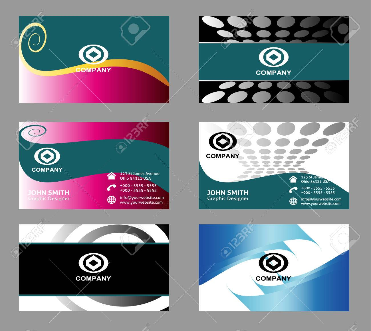 Business cards templates set royalty free cliparts vectors and business cards templates set stock vector 44380755 reheart Choice Image