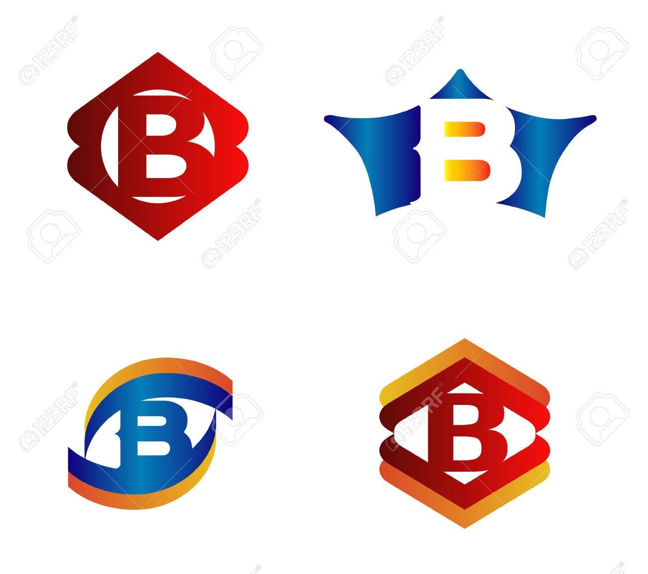 alphabetical logo design stock photos images royalty alphabetical logo design letter b logo design concepts set alphabetical