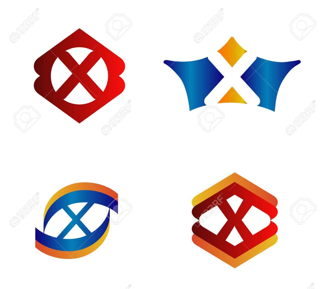 letter x logo design concepts set alphabetical royalty letter x logo design concepts set alphabetical stock vector 44399997