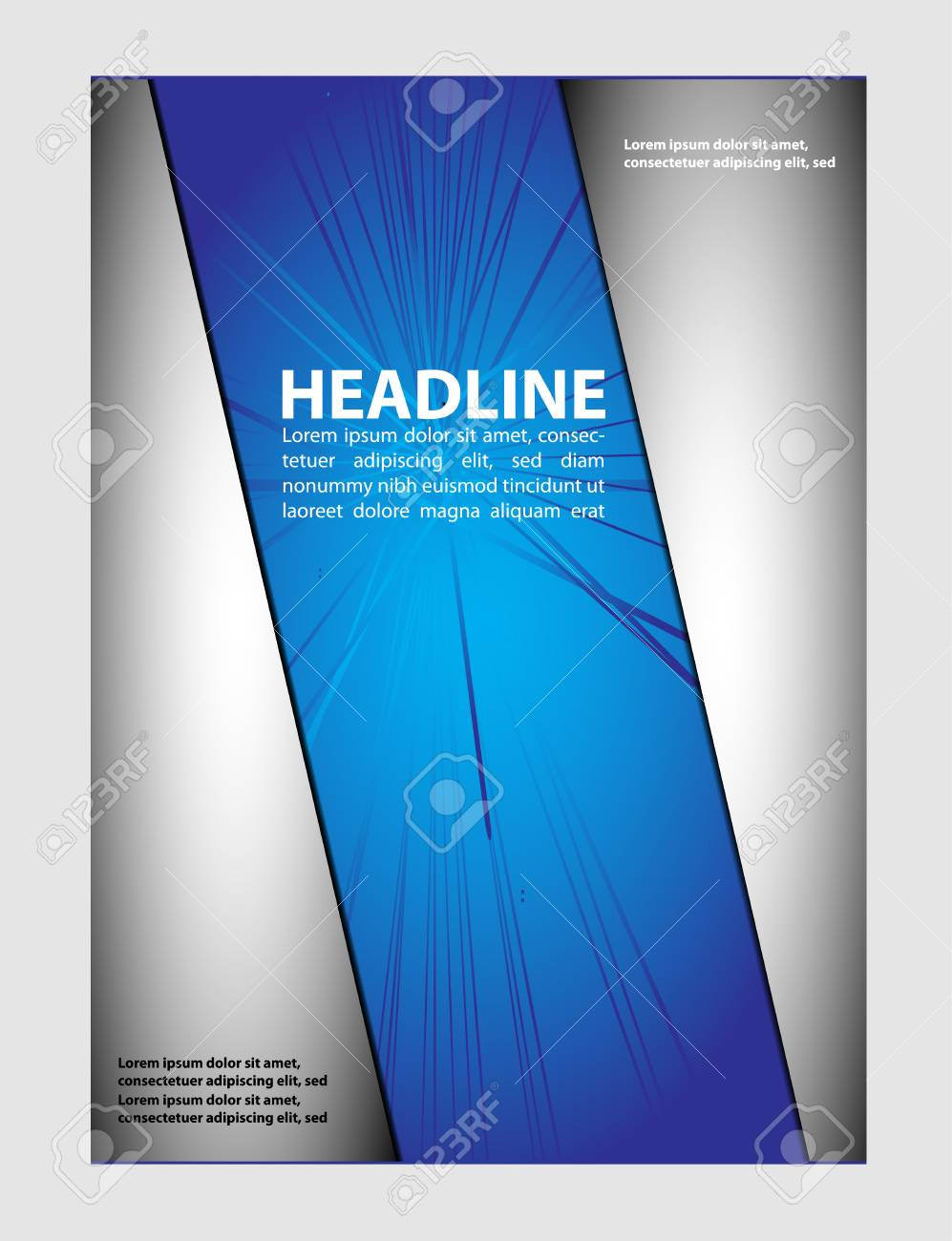 vector business marketing brochure poster template royalty free