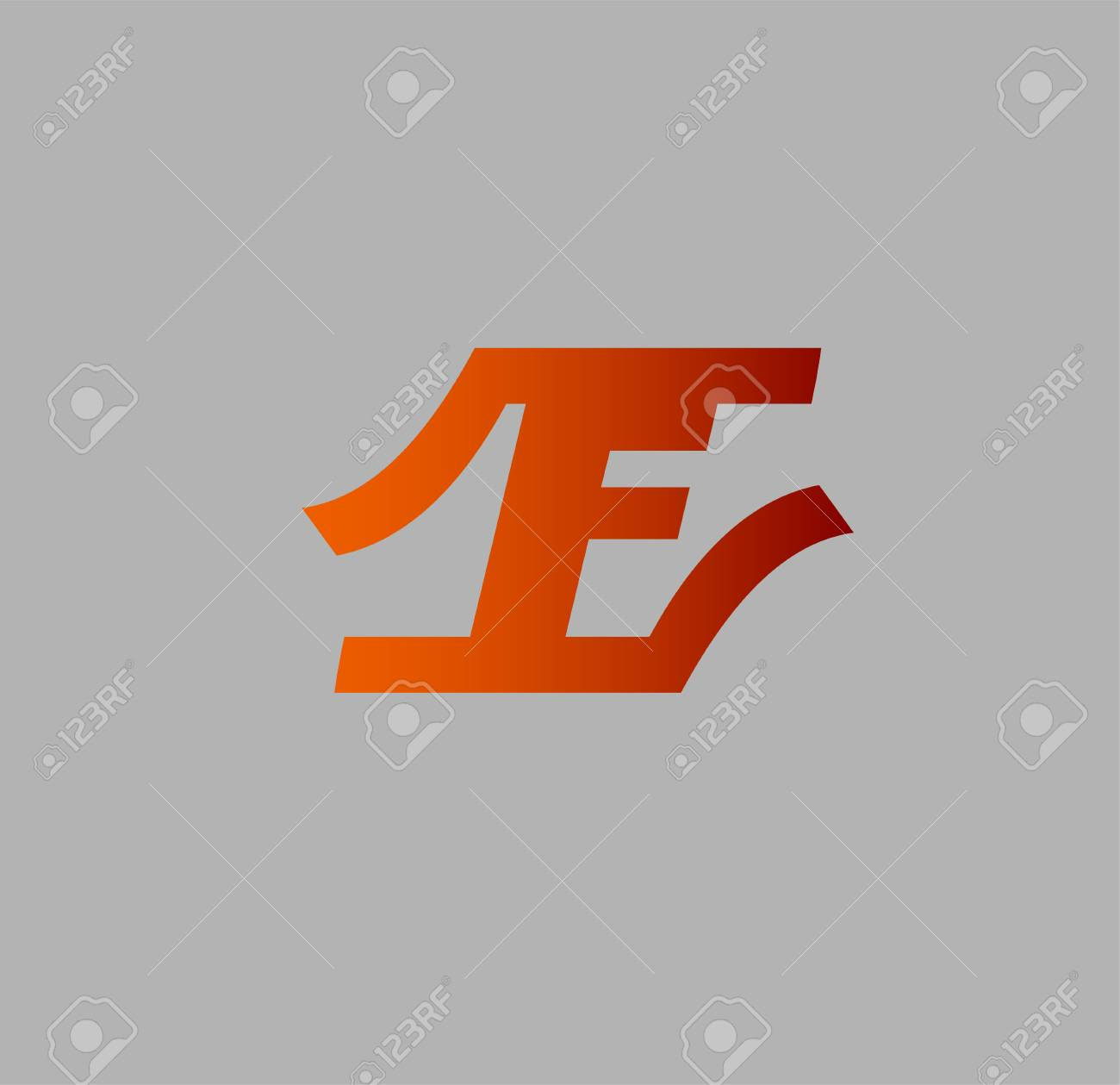 abstract letter f logo design template royalty free cliparts