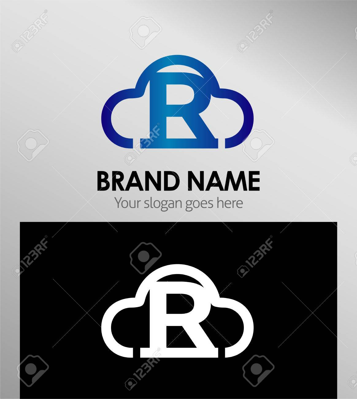 Cloud stylish logo and R icons Stock Vector   56527135. Cloud Stylish Logo And R Icons Royalty Free Cliparts  Vectors  And