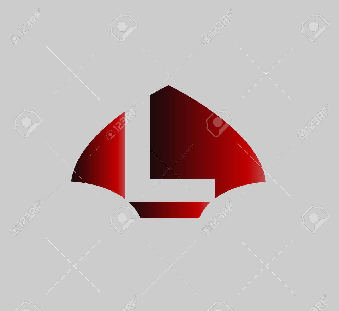 Letra L Logo Icono Elementos De Plantilla De Diseño Ilustraciones ...