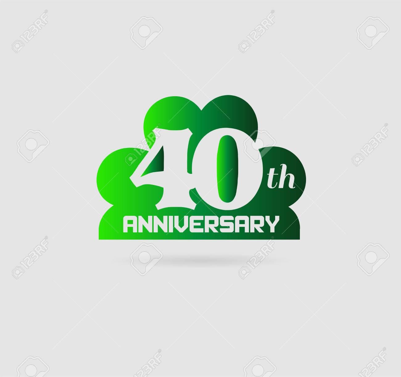 40 Jahre Jubilaum 40 Jahriges Bestehen Lizenzfrei Nutzbare