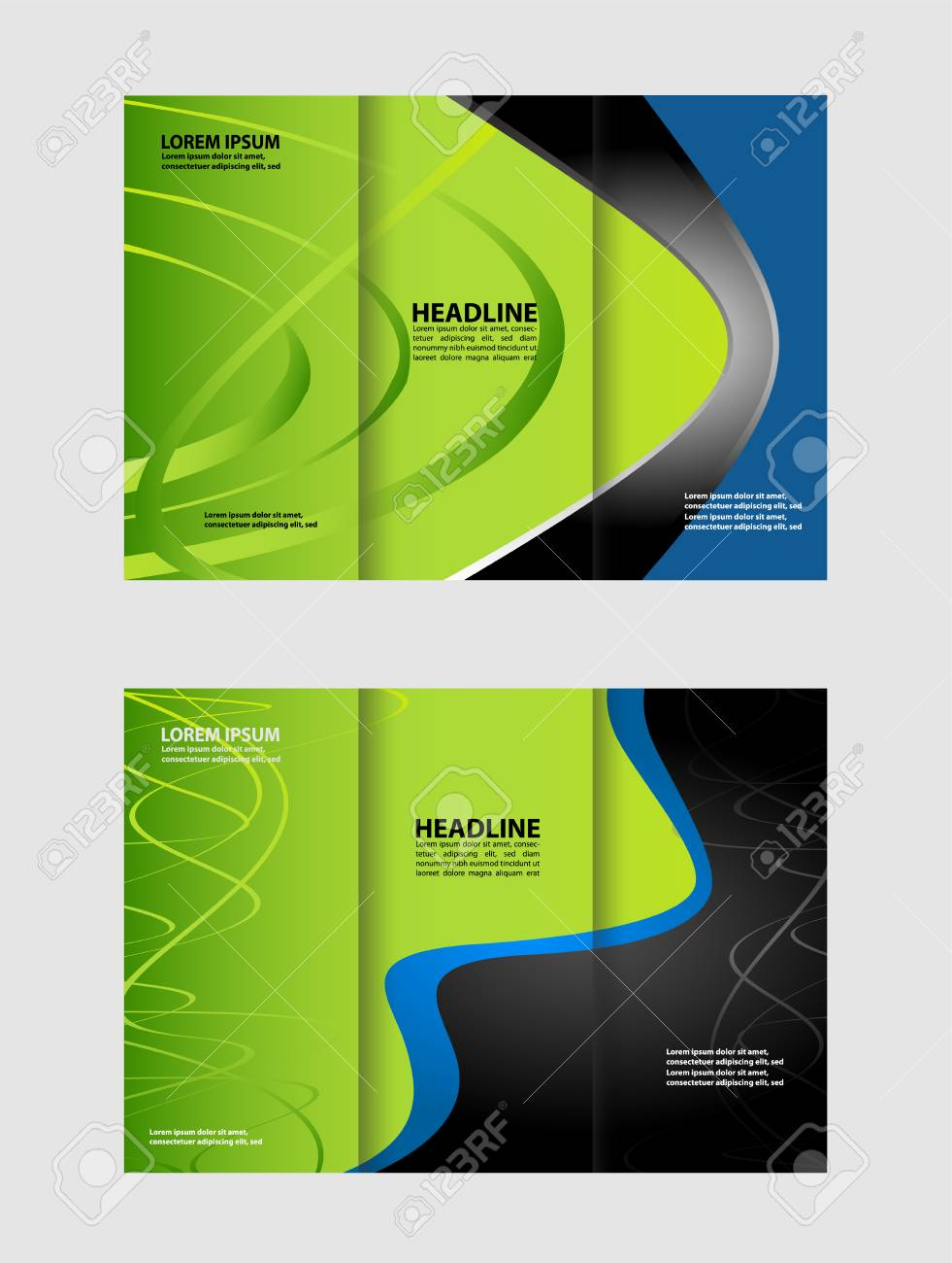 trifold brochure design template vector geometric abstract royalty