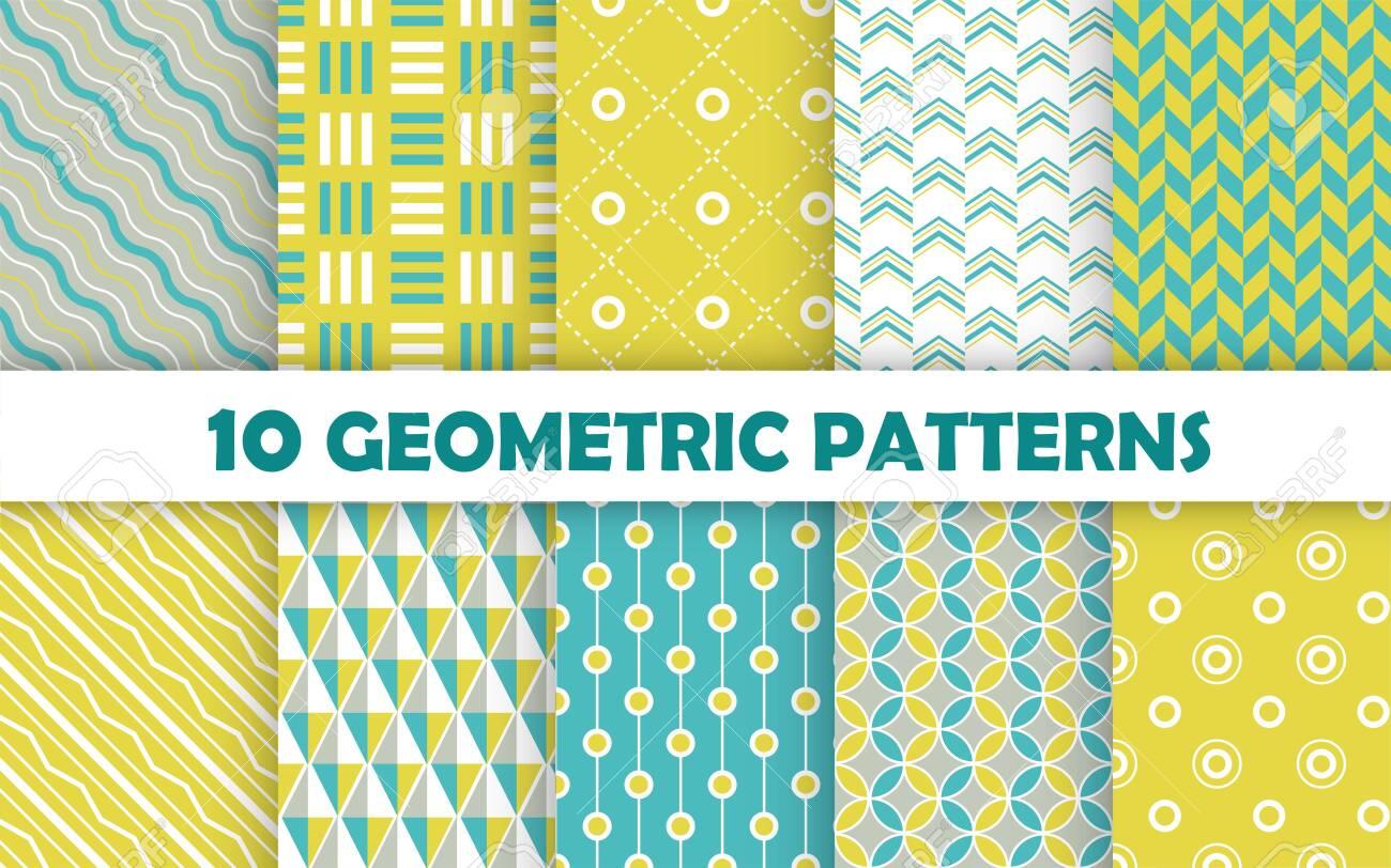 Set of geometric seamless pattern. - 150937953