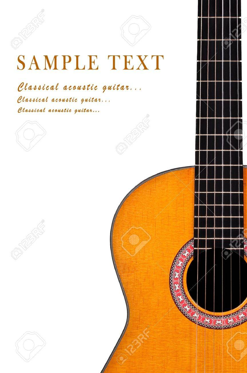 Classical acoustic guitar isolated on white background Stock Photo - 10308966