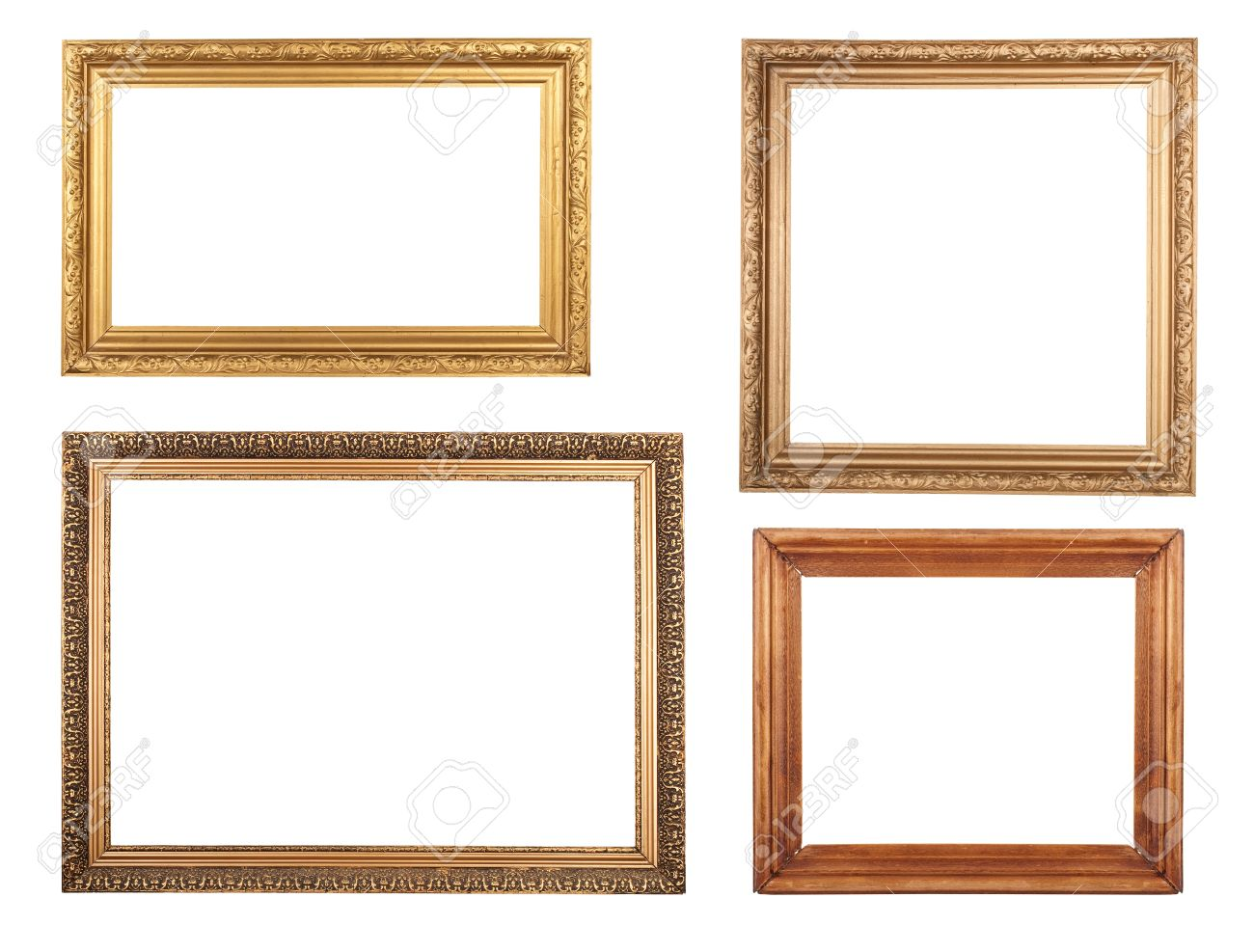 Cuatro Marcos De Cuadros Antiguos. De Alta Resolución. Fotos ...