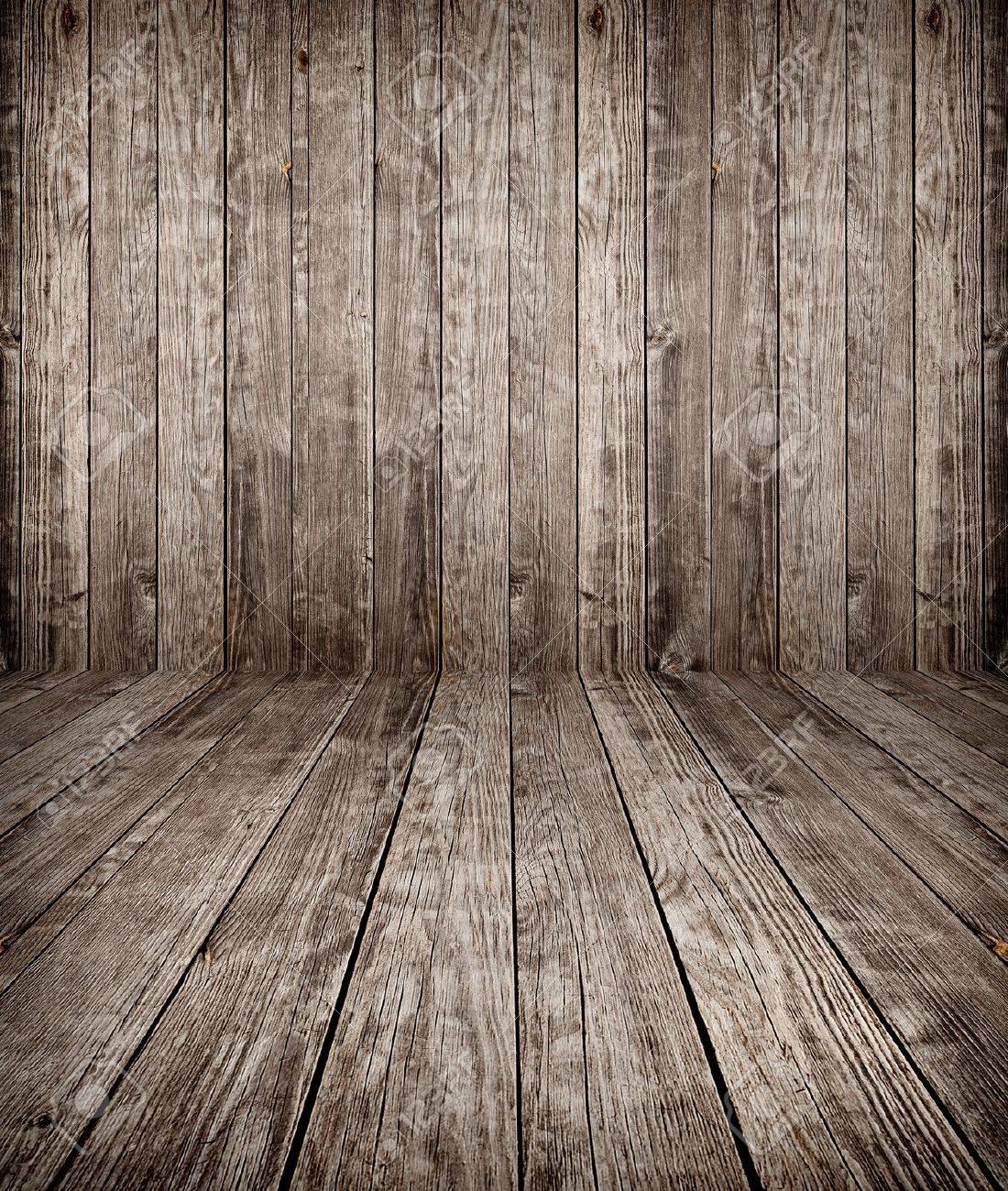 old weathered wood planks texture - 13571455