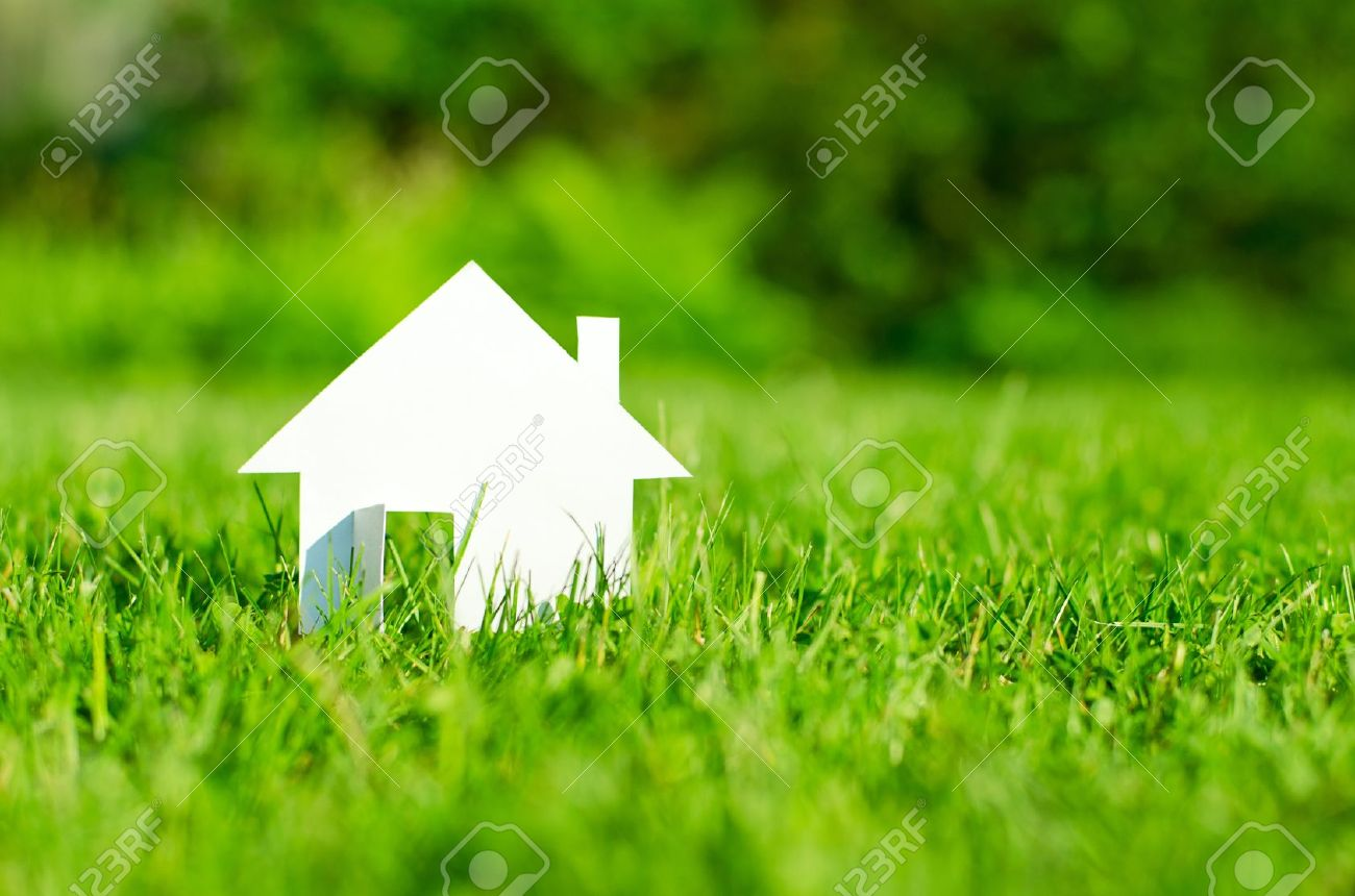 House in green field Stock Photo - 15826015