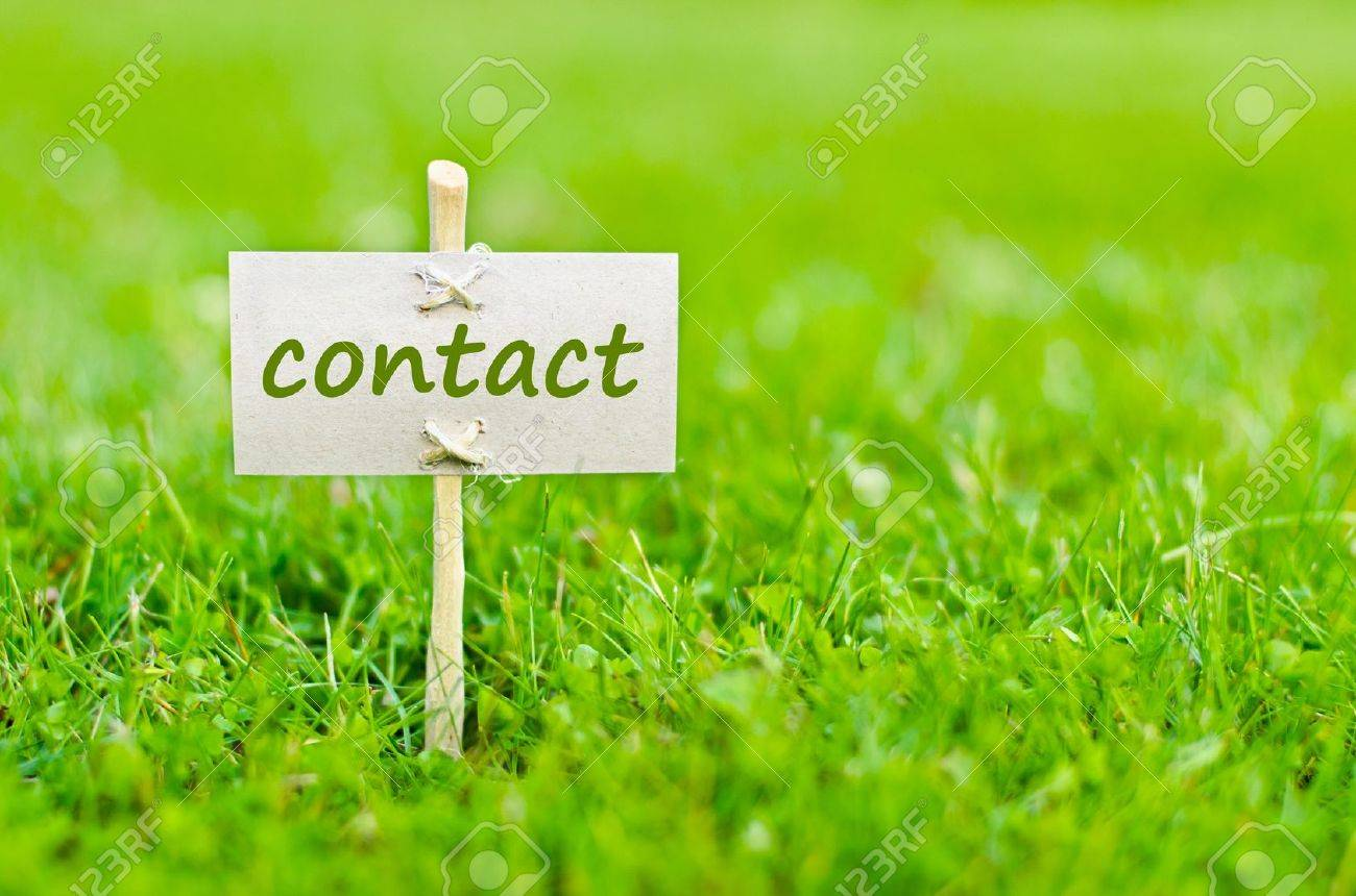 Contact us concept with word on nature still life - 16263129