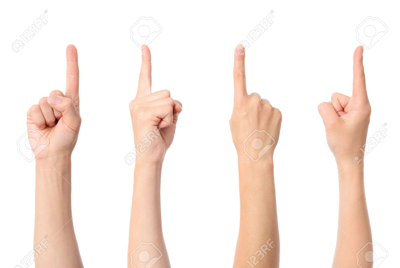 Hand finger pointing isolated on white background - 16263130