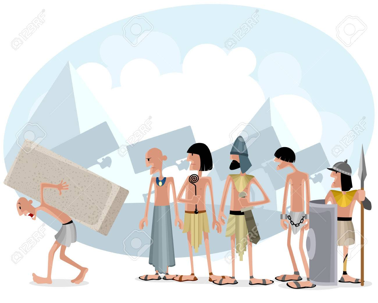 Vector illustration of a slaves and masters - 66679710