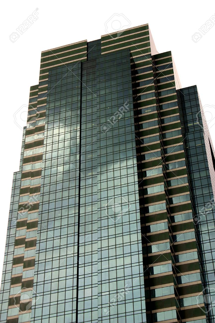 Tall skyscraper isolated over white Stock Photo - 990702
