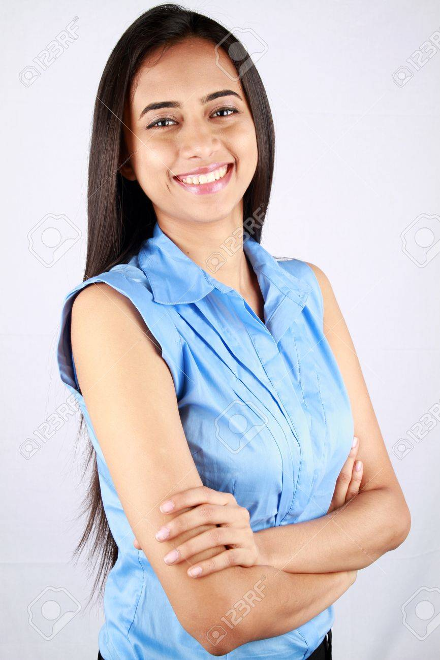 Portrait of a young business woman with a smile. Stock Photo - 9628299