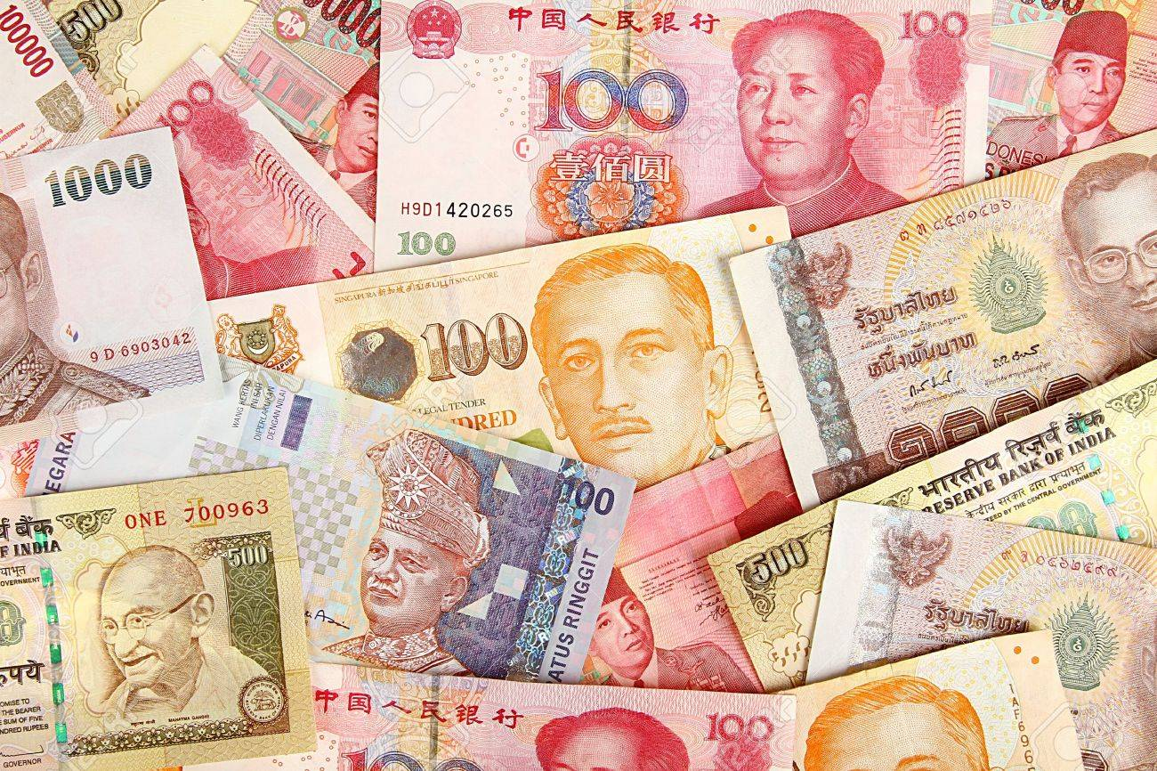 Background of asian currency Stock Photo - 15065622