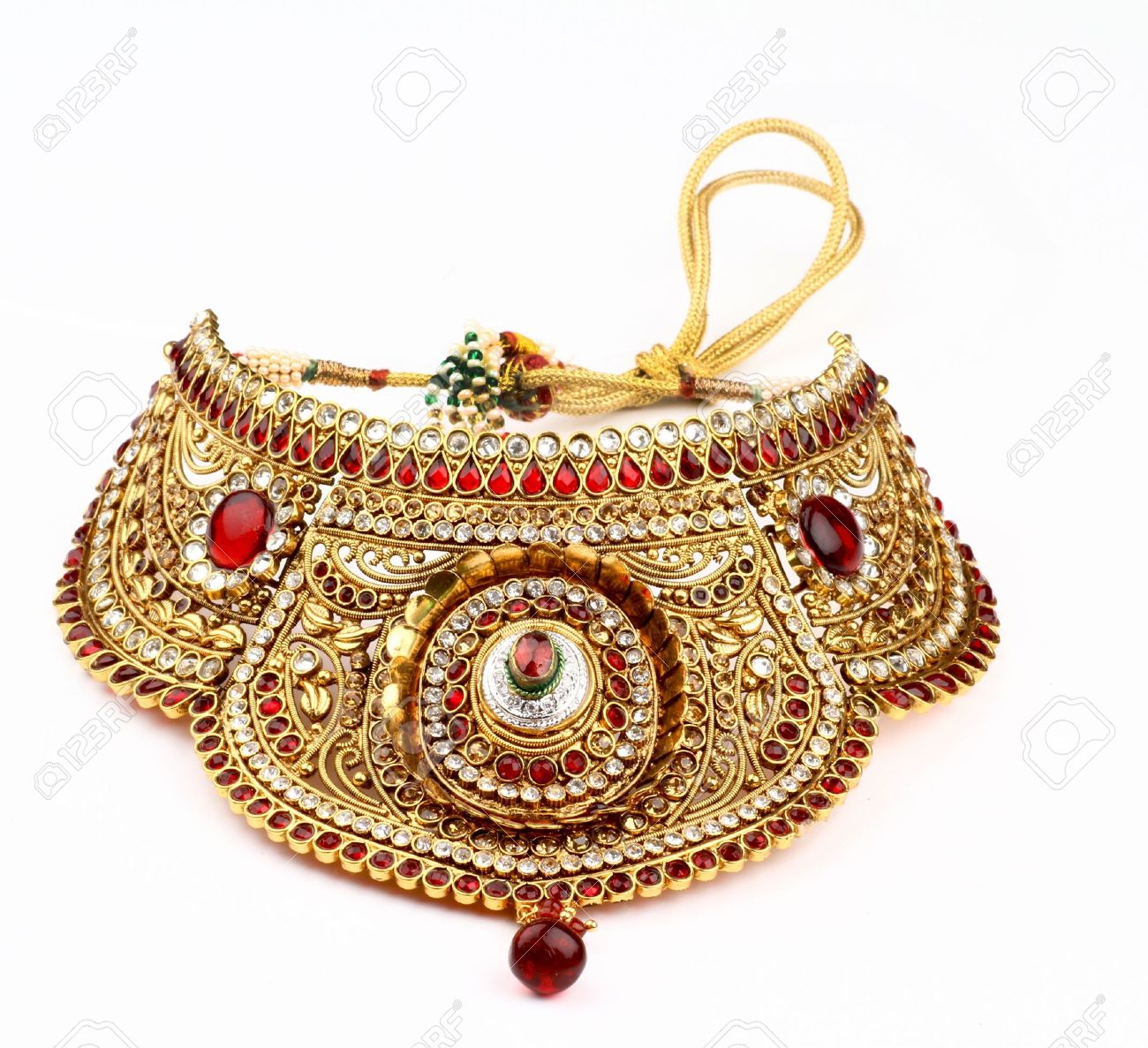 Indian jewelry isolated on a white background Stock Photo - 15168858