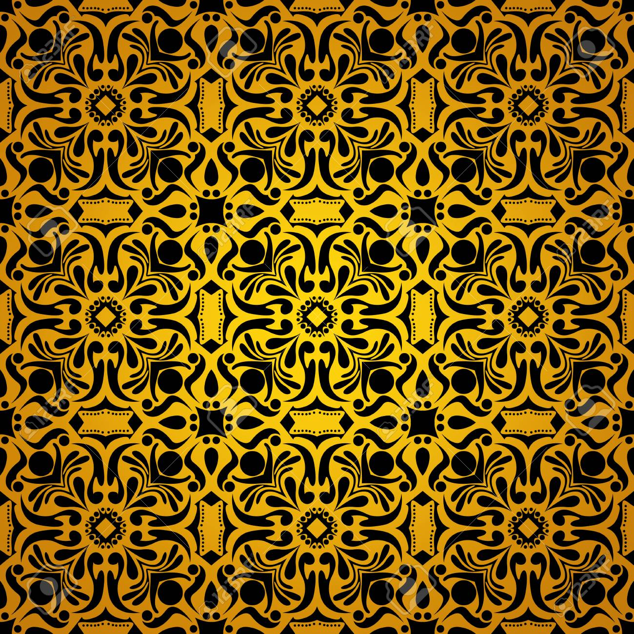 Black And Yellow Vintage Floral Background Pattern Wallpaper Stock Photo Picture And Royalty Free Image Image 88336860