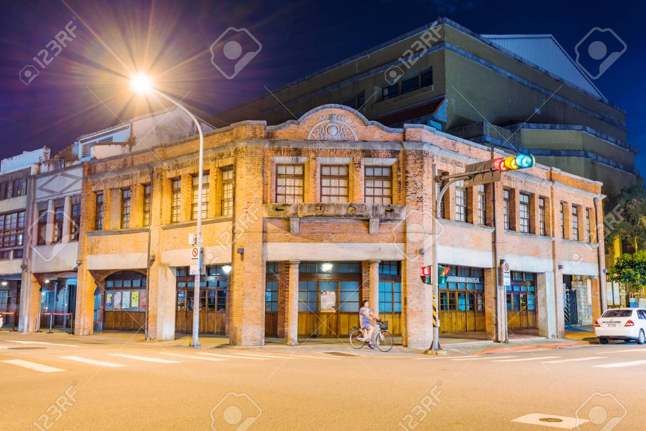 Stock Photo   TAIPEI, TAIWAN   JULY 02: This Is A Night View Of The Exterior  Architecture Of Bopiliao Historical Block An Area Which Is Famous For Itu0027s  Old ...