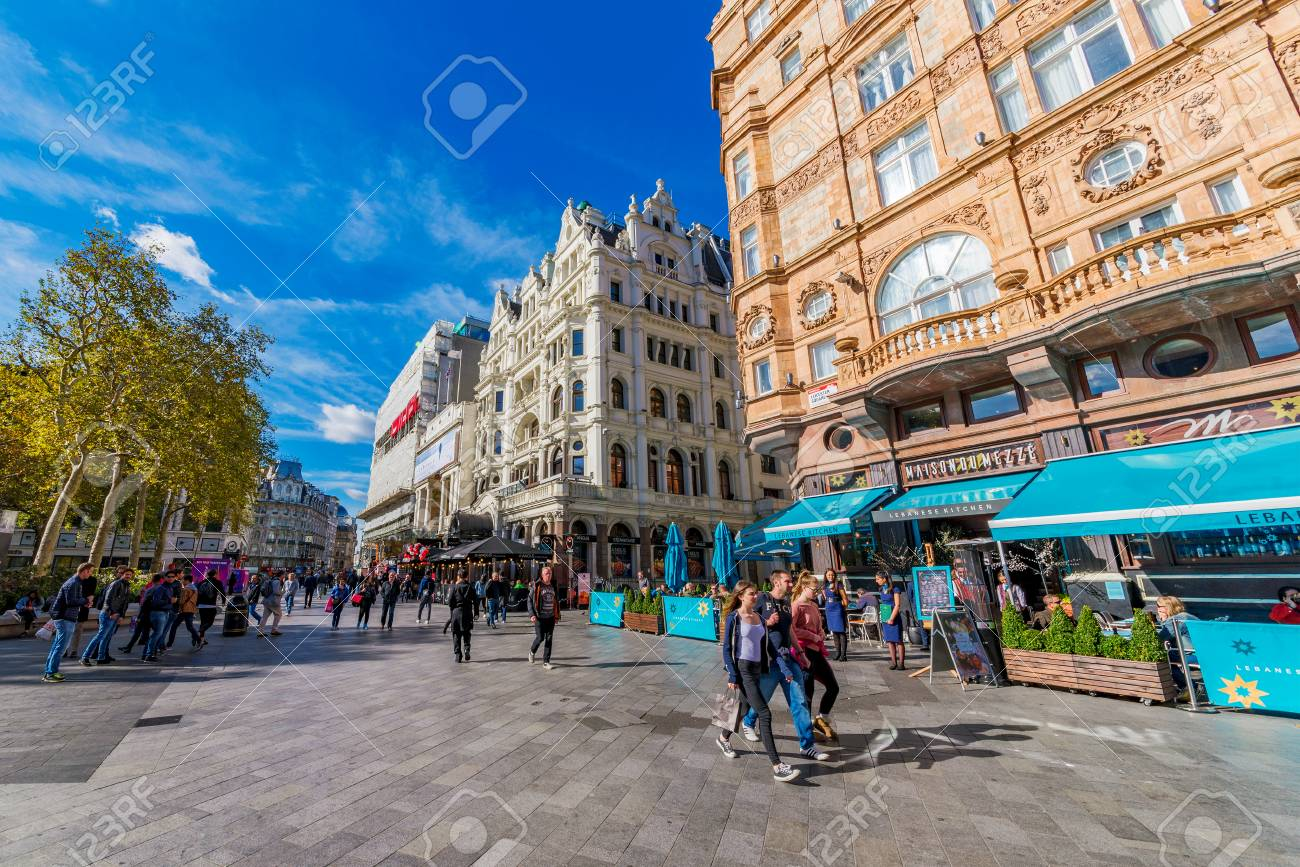 LONDON, UNITED KINGDOM - OCTOBER 06: This is Leicester square,