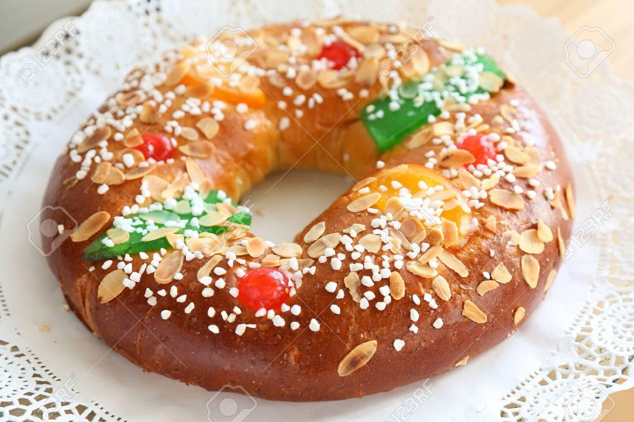 """Roscon de reyes"" , Spanish typical dessert of Epiphany - 49216339"