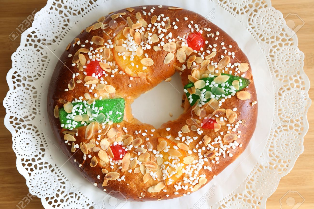 """Roscon de reyes"" , Spanish typical dessert of Epiphany - 49216391"