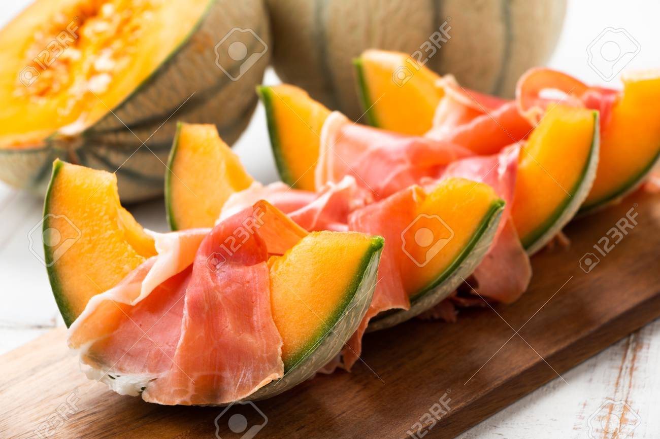 Cantaloupe Melon With Ham A Traditional Spanish And Italian Stock Photo Picture And Royalty Free Image Image 102169524 Cantaloupe, also known as muskmelon (in the usa) or rockmelon (in australia) is a flowering plant exact origin of cantaloupe is unknown. 123rf com