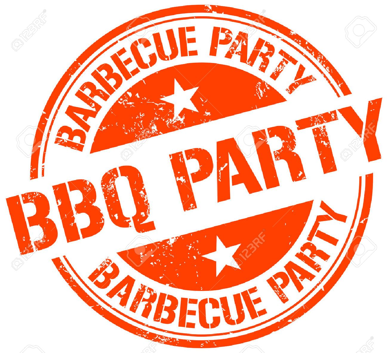bbq party stamp royalty free cliparts, vectors, and stock