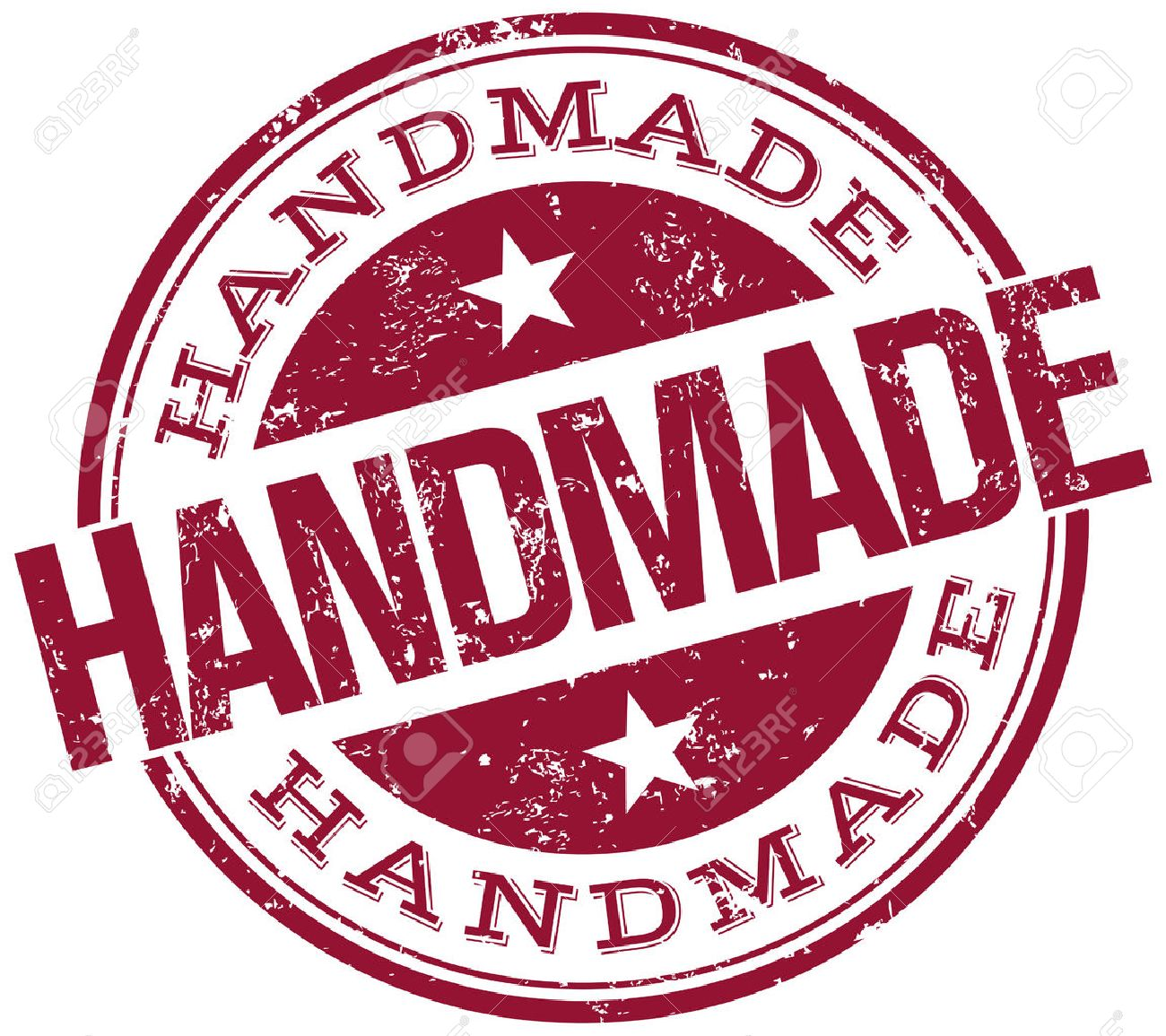 handmade stamp royalty free cliparts vectors and stock