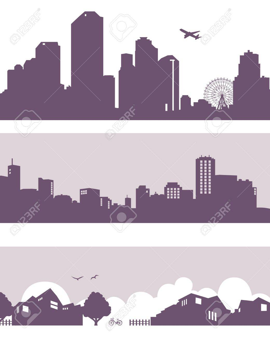 town and city Stock Vector - 11650335