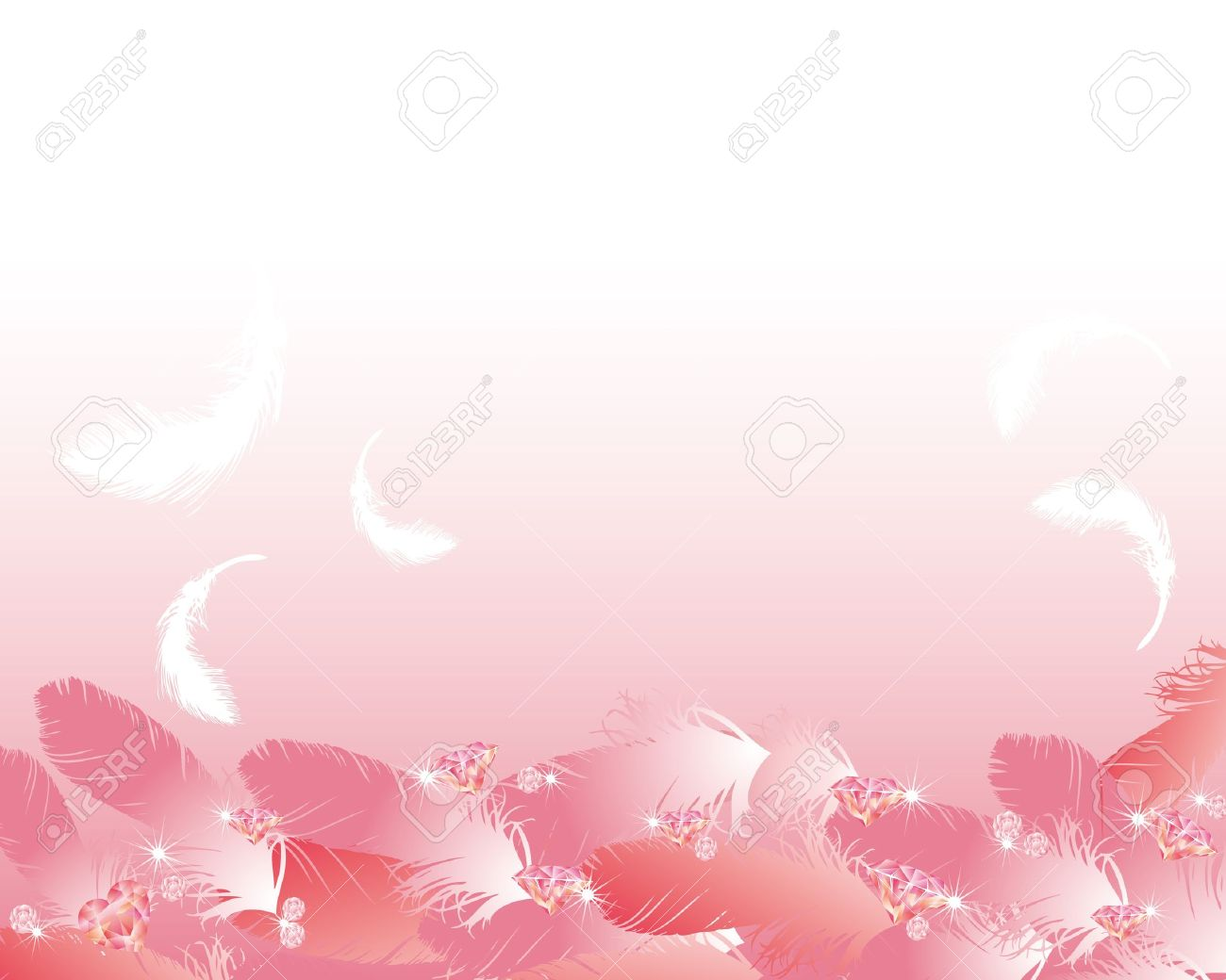 jewelry and feather background Stock Vector - 11649259