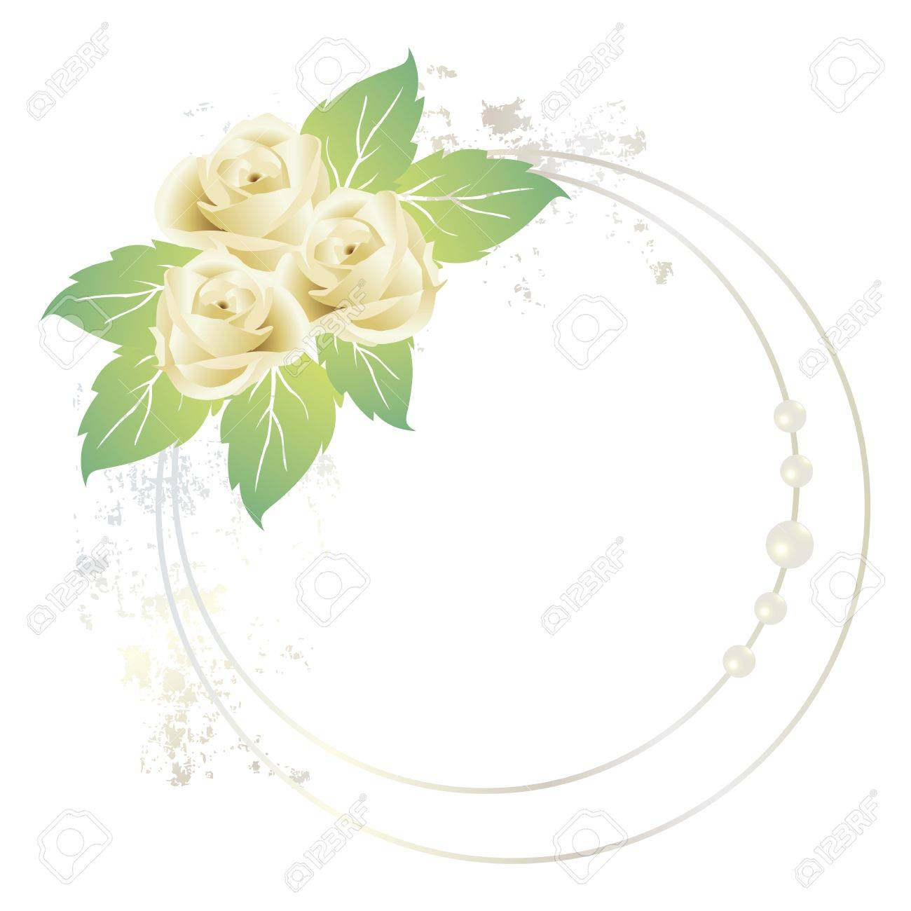White Rose Frame Royalty Free Cliparts, Vectors, And Stock ...