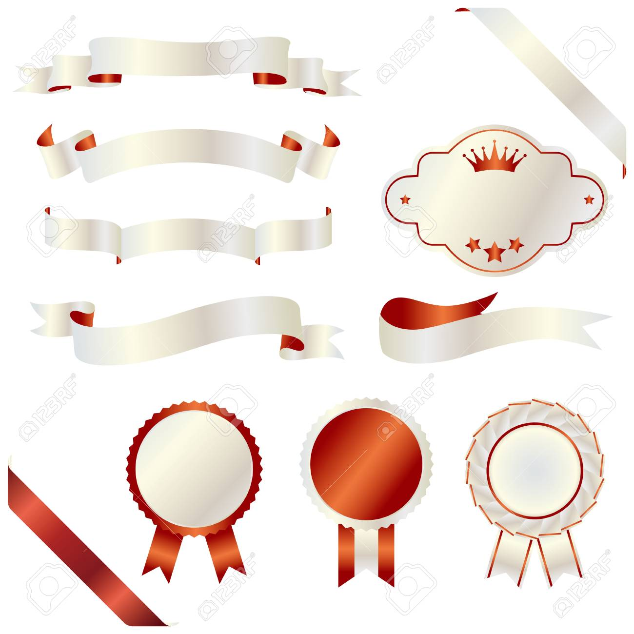 ribbon and emblem Stock Vector - 11882715