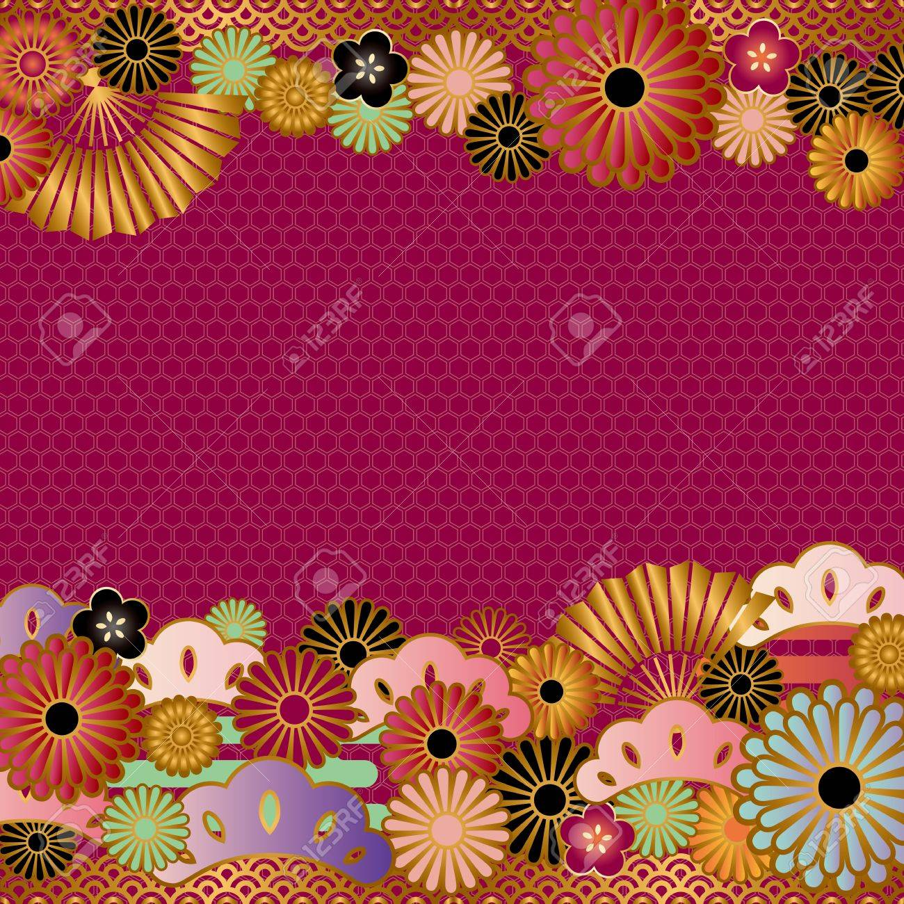 asian background Stock Vector - 11991264