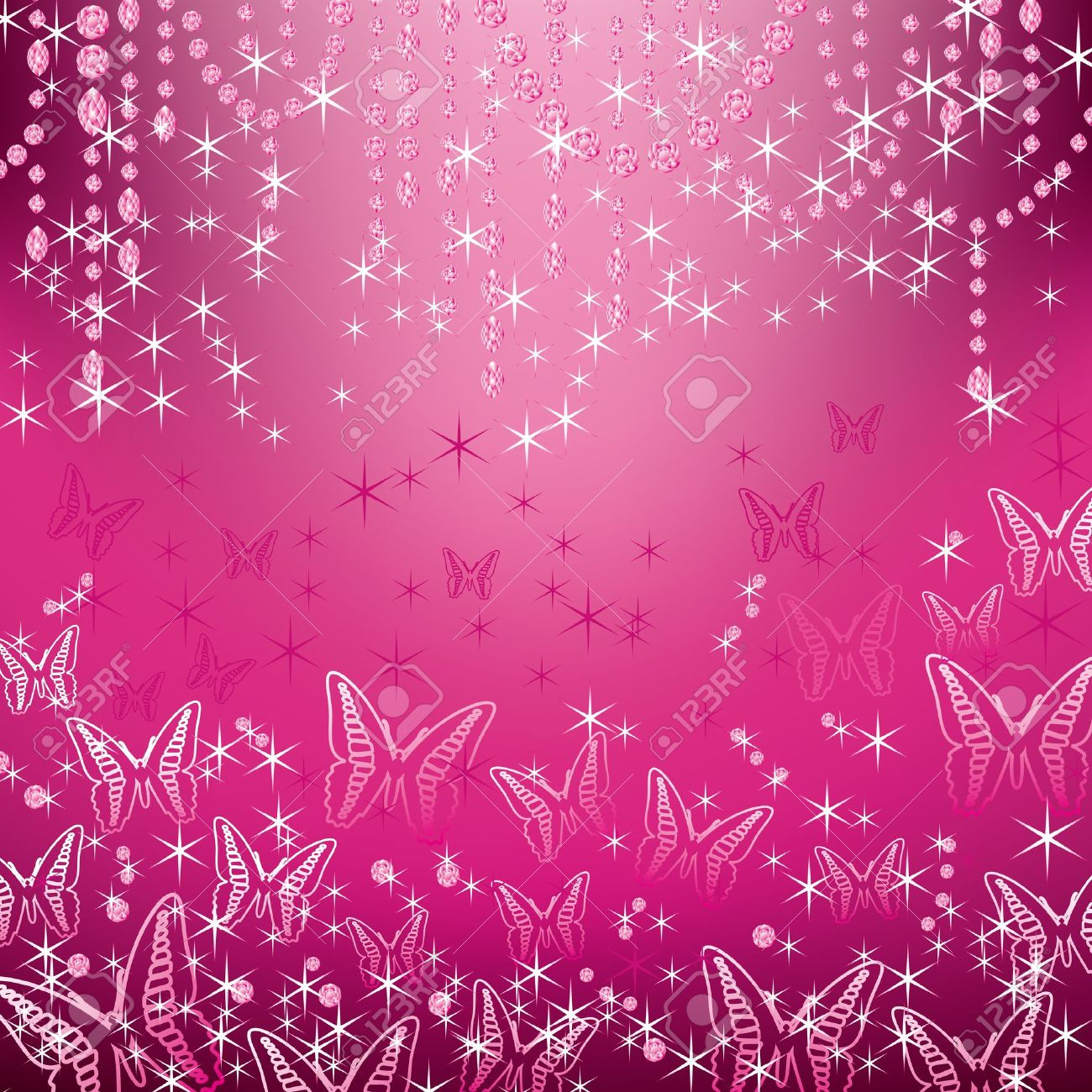 jewelry and butterfly background Stock Vector - 11991352