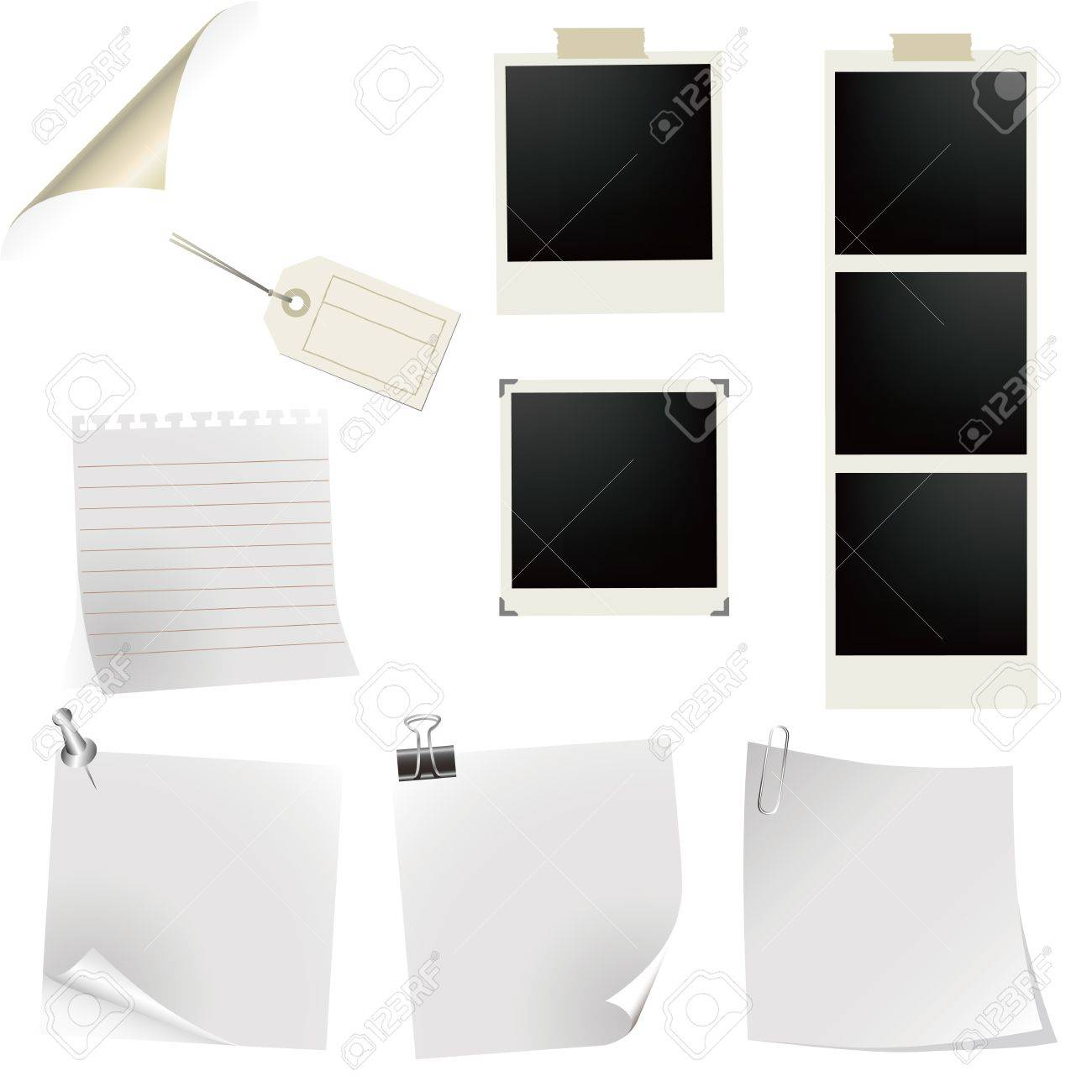 photo frame and note Stock Vector - 11991308