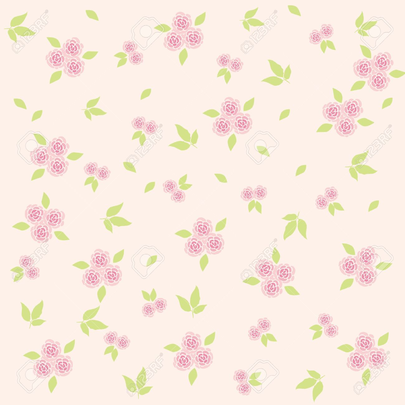 Flower Background Soft Pink Royalty Free Cliparts Vectors And