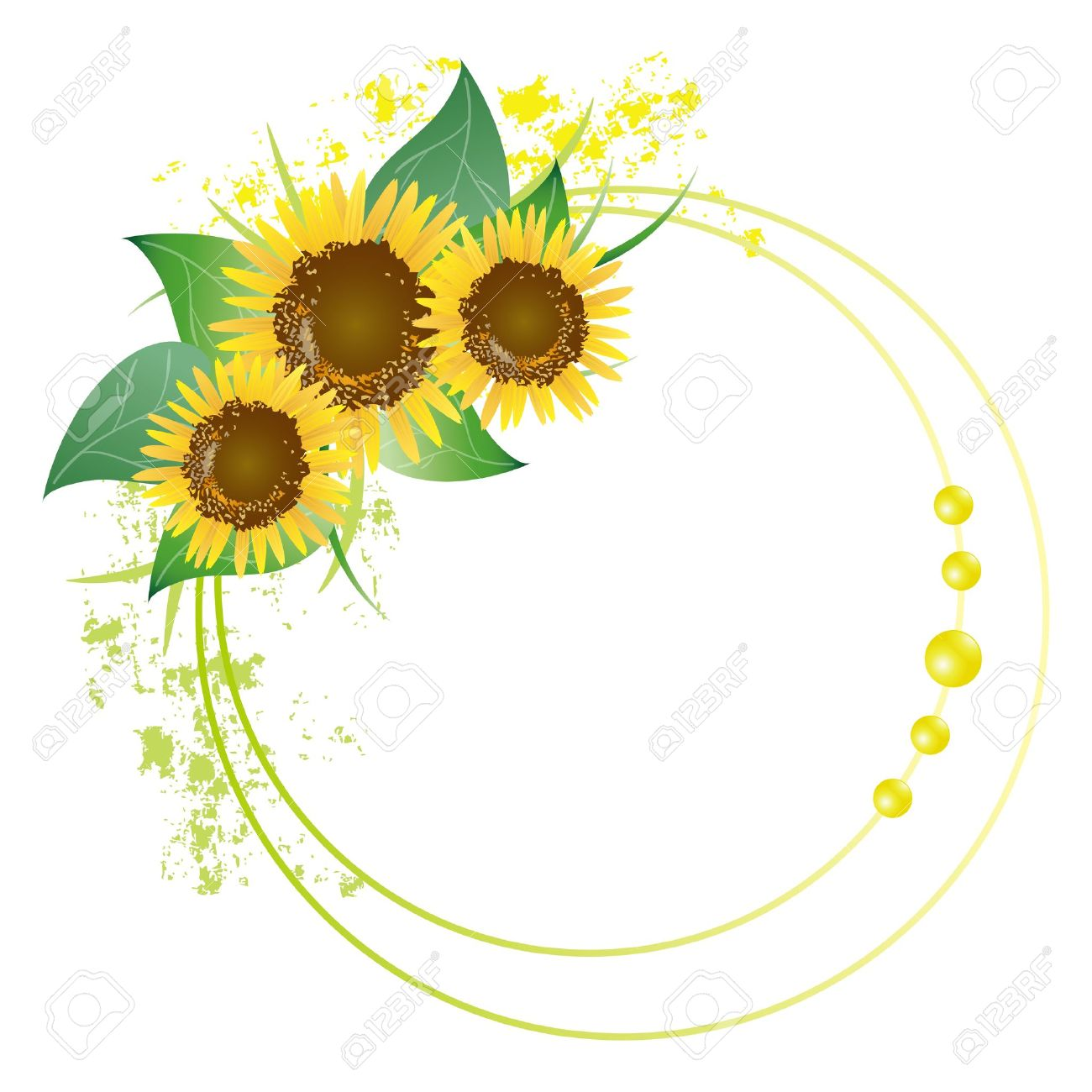 Sunflower Frame Royalty Free Cliparts, Vectors, And Stock ...