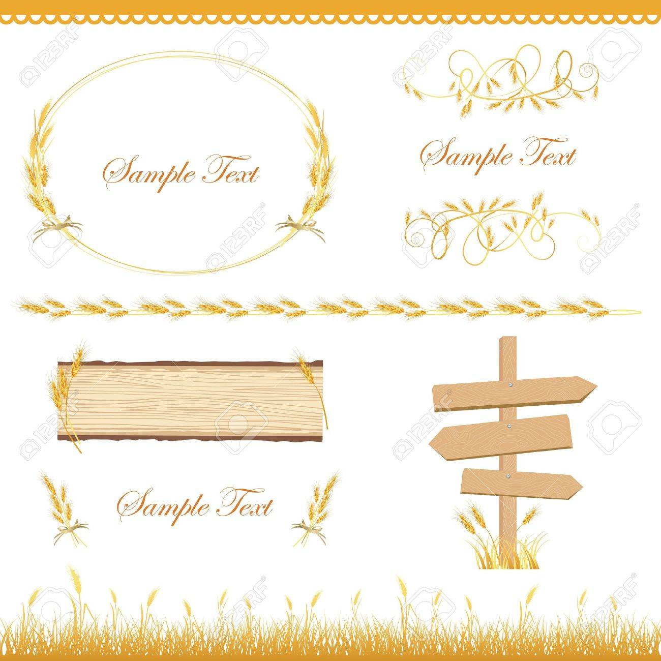 crop set Stock Vector - 12482598